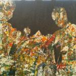Building a better world, Sand, Acryl auf Leinwand, 120 x  90 cm