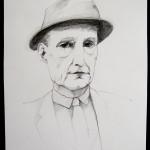 William S. Burroughs / Bleistifzeichnung