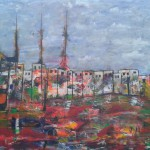 Linden, 130 x 80 cm, Acryl auf Leinwand